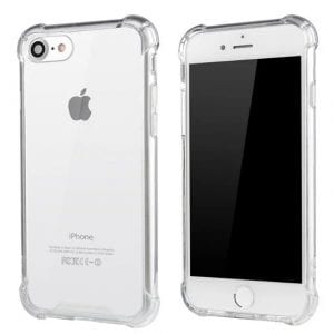 Clear Silicone Heavy Edge Case for iPhone