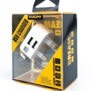 Dual Mains UK Plug Adaptor for all devices USB