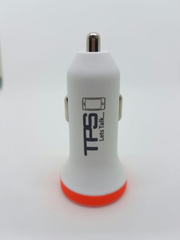 TPS Dual Car Charger White hero - TPS Dual USB Car Charger - Supports Most Devices