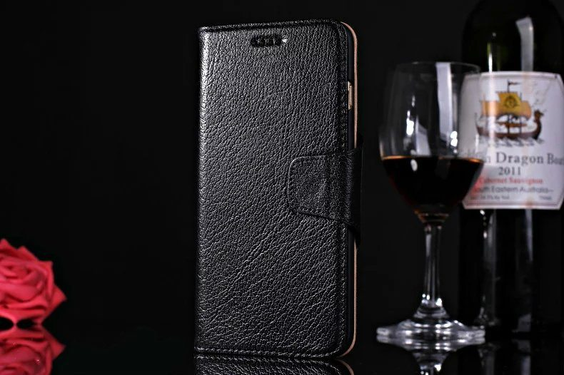psb 6 1 - Real Leather Flip Case - iPhone 6/6S