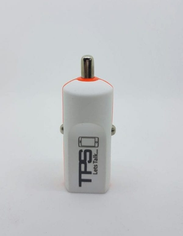 TPS Single Car Charger White hero 600x773 - TPS Single USB Car Charger - Supports Most Devices