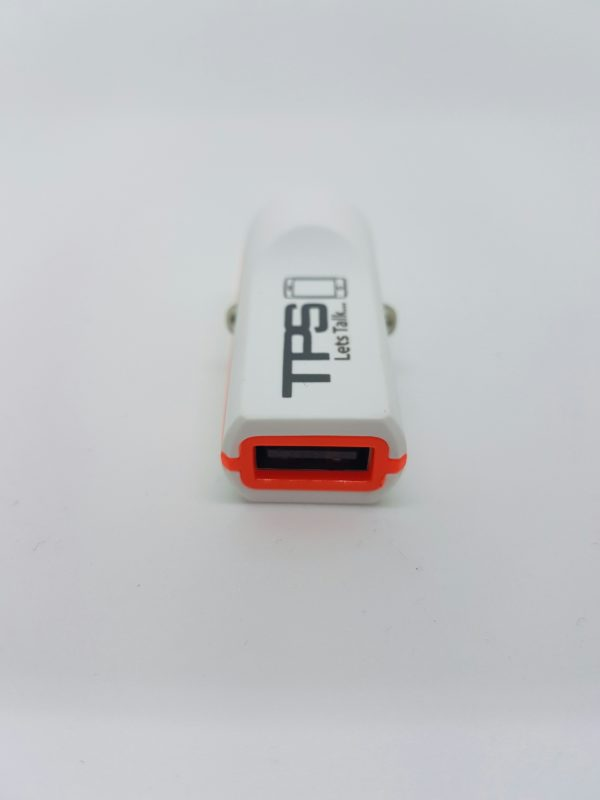 TPS Single Car Charger White - TPS Single USB Car Charger - Supports Most Devices