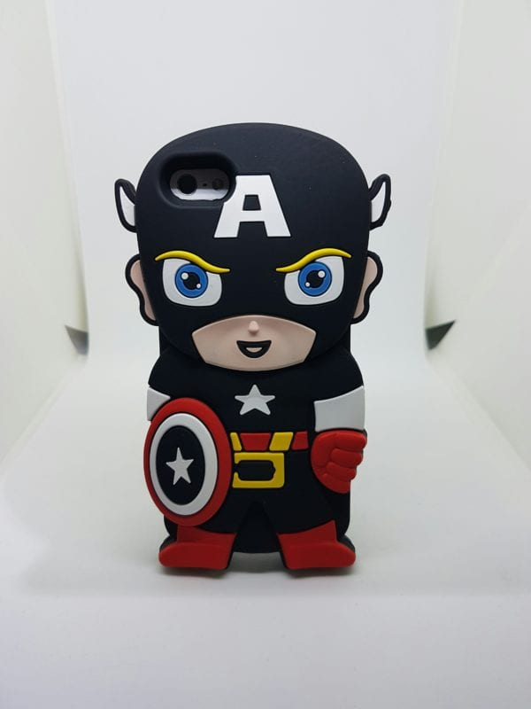 iPhone 45 Super hero case BlackCap - Super Hero Soft Case - iPhone 4/4S/5/5S