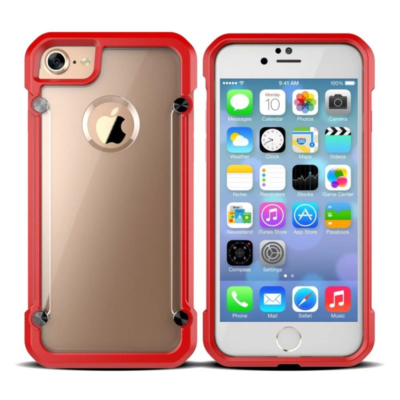 iPhone 67 Red Protective Case The Phone Shop Bristol - Clear Armour Case - iPhone 5/5s/6/6+/7/7+