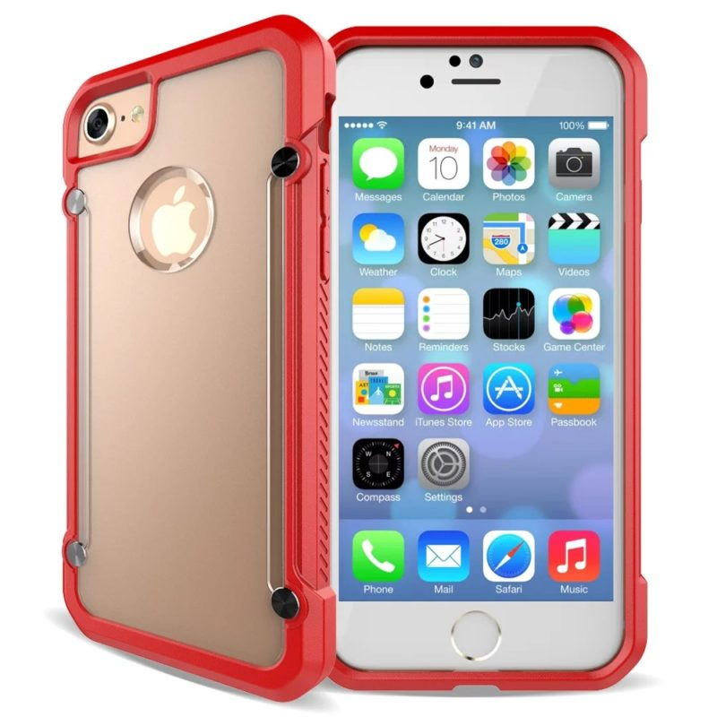 iPhone-67 red clear Protective Case