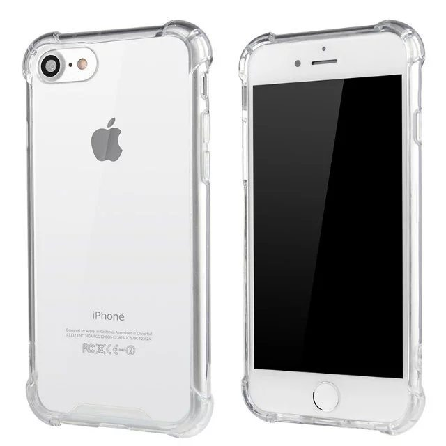 Clear Silicone Heavy Edge Case for iPhone 1 1 - Clear Silicone Case - iPhone 5/5s/6/6+/7/7+