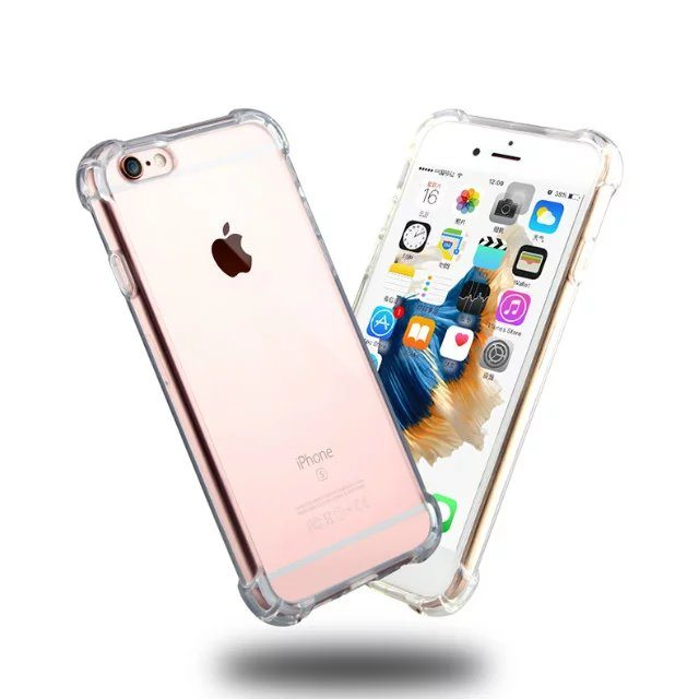 Clear Silicone Heavy Edge Case for iPhone TPS - Clear Silicone Case - iPhone 5/5s/6/6+/7/7+