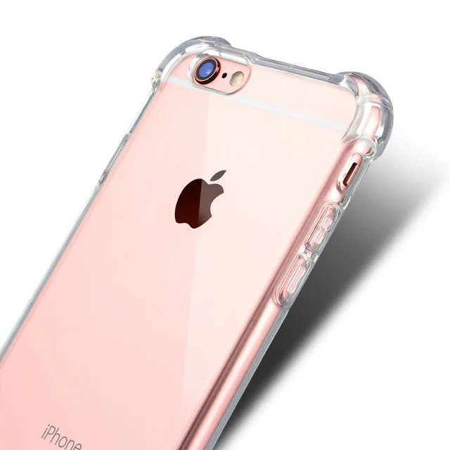 Clear Silicone Heavy Edge Case for iPhone The Phone Shop - Clear Silicone Case - iPhone 5/5s/6/6+/7/7+