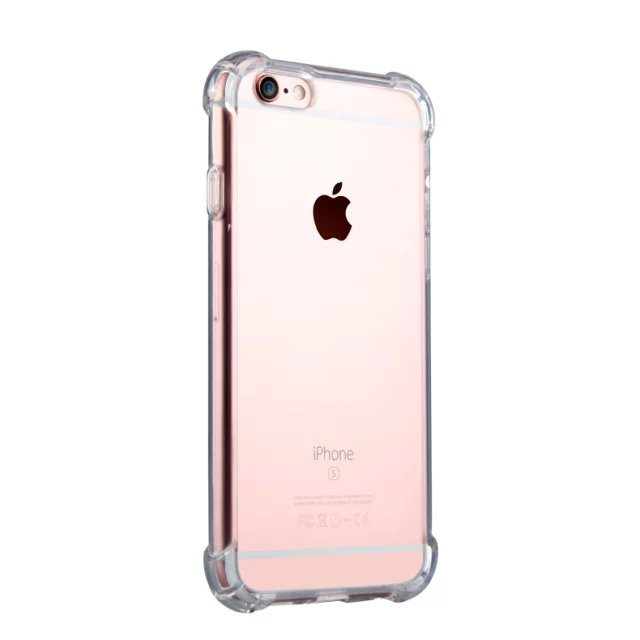 Clear Silicone Heavy Edge Case for iPhone - Clear Silicone Case - iPhone 5/5s/6/6+/7/7+