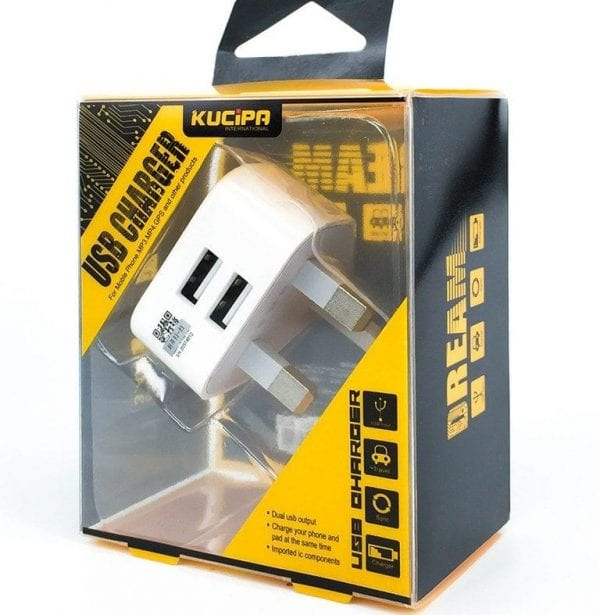 Dual Mains UK Plug Adaptor for all devices USB e1484349857952 600x615 - Mains USB Plug - Dual Port