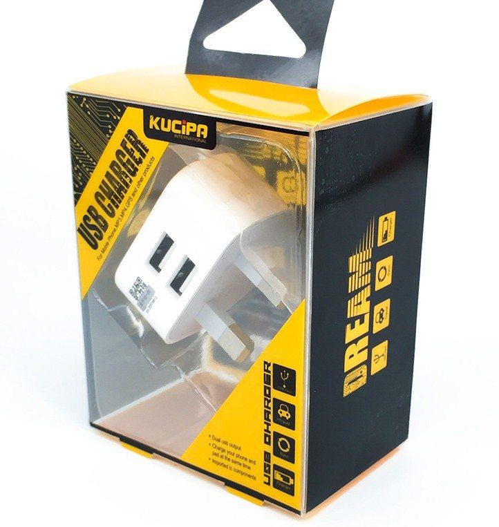 Dual Mains UK Plug Adaptor for all devices e1484349882761 - Mains USB Plug - Dual Port
