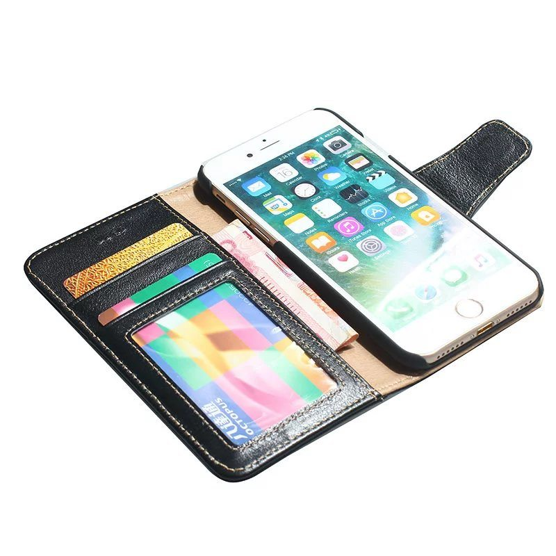 The Phone Shop Leather Real Case for iPhone 74 - Real Leather Flip Case - iPhone 7