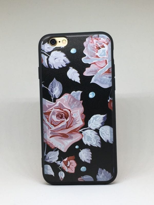 Flower case for iPhone10 e1492446148549 - Pink Rose - iPhone 6/6+/6S/6S+/7/7+