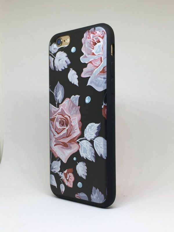 Flower case for iPhone11 e1492446170845 - Pink Rose - iPhone 6/6+/6S/6S+/7/7+
