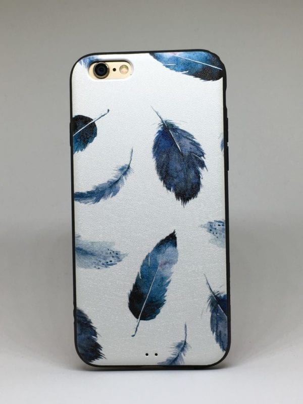 Flower case for iPhone2 e1492445802240 - Navy Feather - iPhone 6/6+/6S/6S+/7/7+