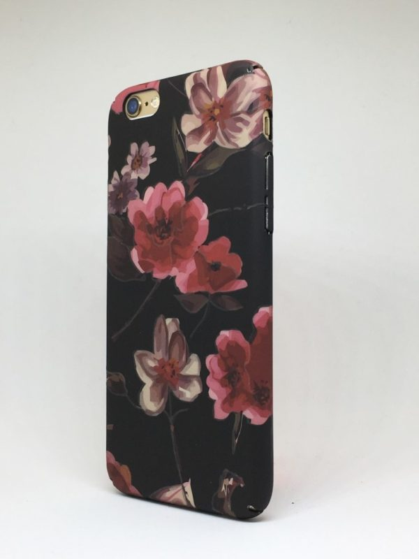 Flower case for iPhone5 e1492445989811 - Pink Flowers Matte - iPhone 6/6+/6S/6S+/7/7+