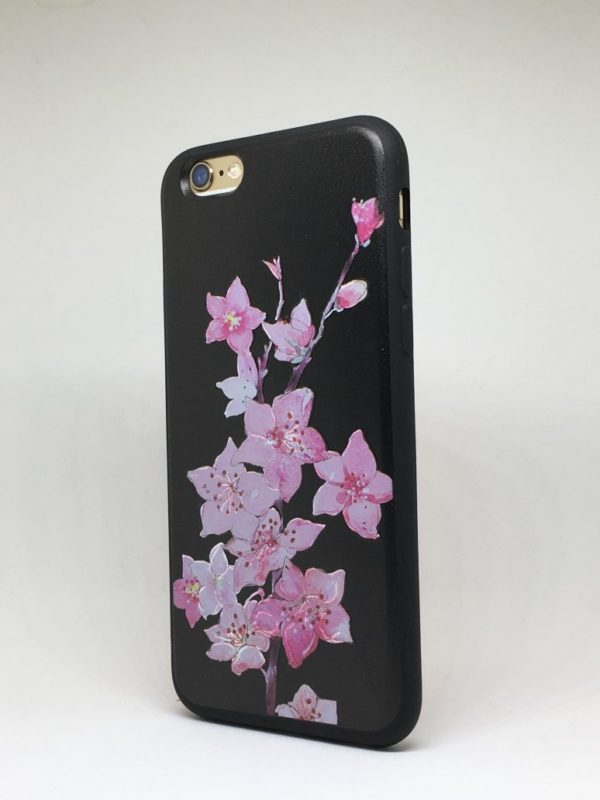 Flower case for iPhone9 e1492446129596 - Pink Lilys - iPhone 6/6+/6S/6S+/7/7+
