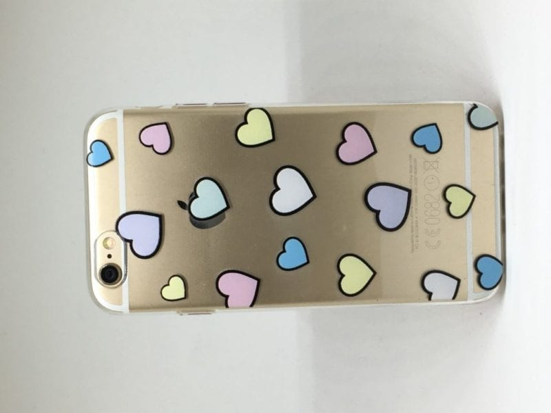 Heart Pattern iPhone 7 Case1 e1492466488714 - Heart Clear Case - iPhone 6/6+/6S/6S+/7/7+