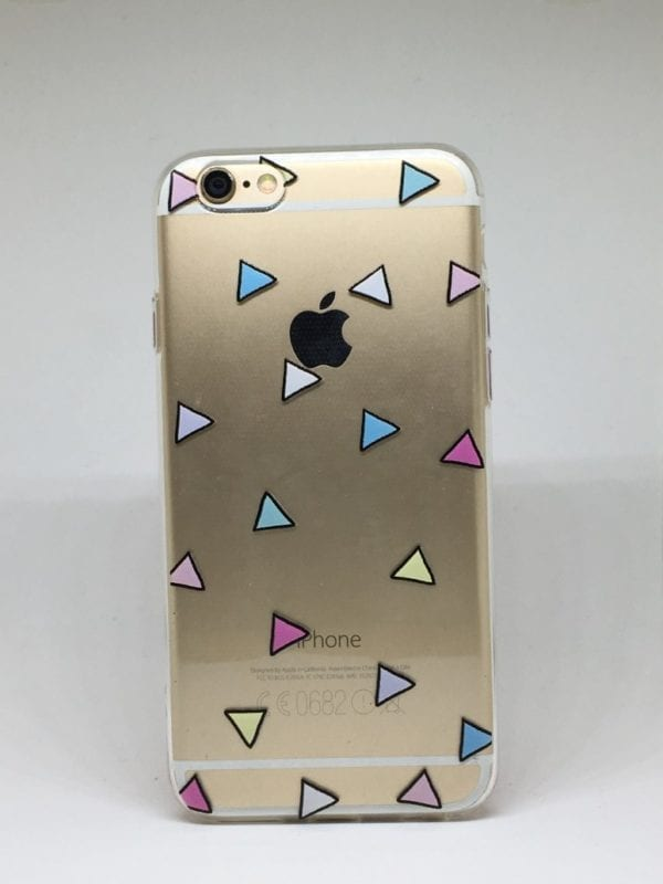 Triangle Pattern iPhone 7 Case1 e1492437764862 - Triangle Clear Case - iPhone 6/6+/6S/6S+/7/7+