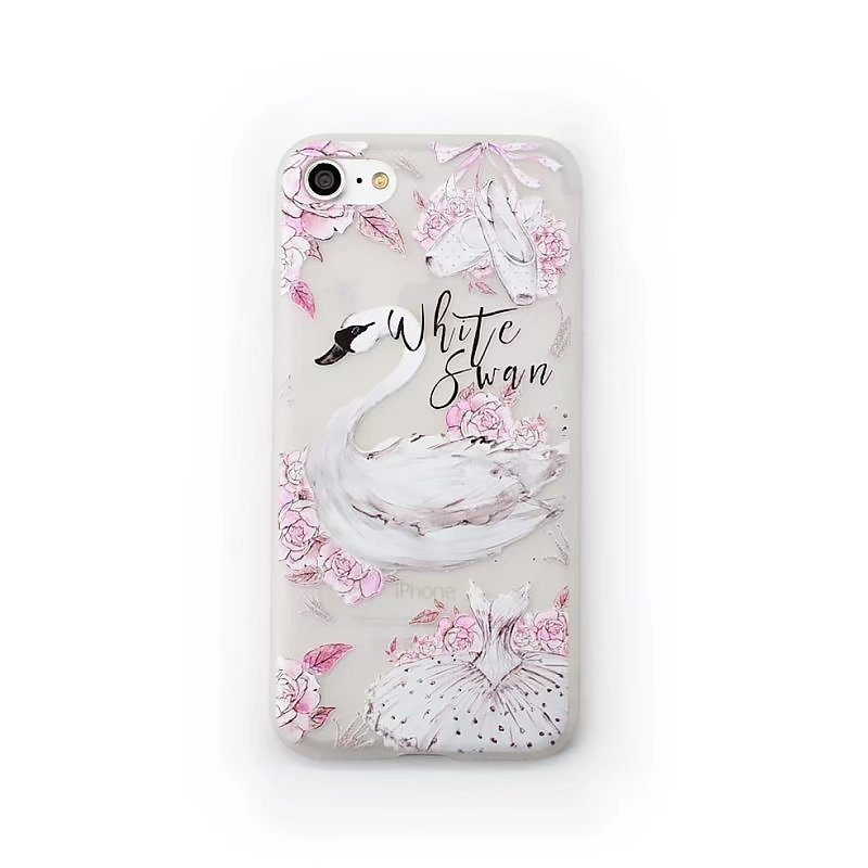 White Swan Case iPhone2 - White Swan - iPhone 6/6+/6S/6S+/7/7+