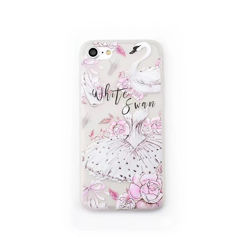 White Swan Case iPhone3 - White Swan - iPhone 6/6+/6S/6S+/7/7+