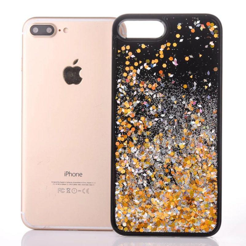 iPhone 7 Floating Glitter Case1 - Falling Glitter - iPhone 6/6+/6S/6S+/7/7+