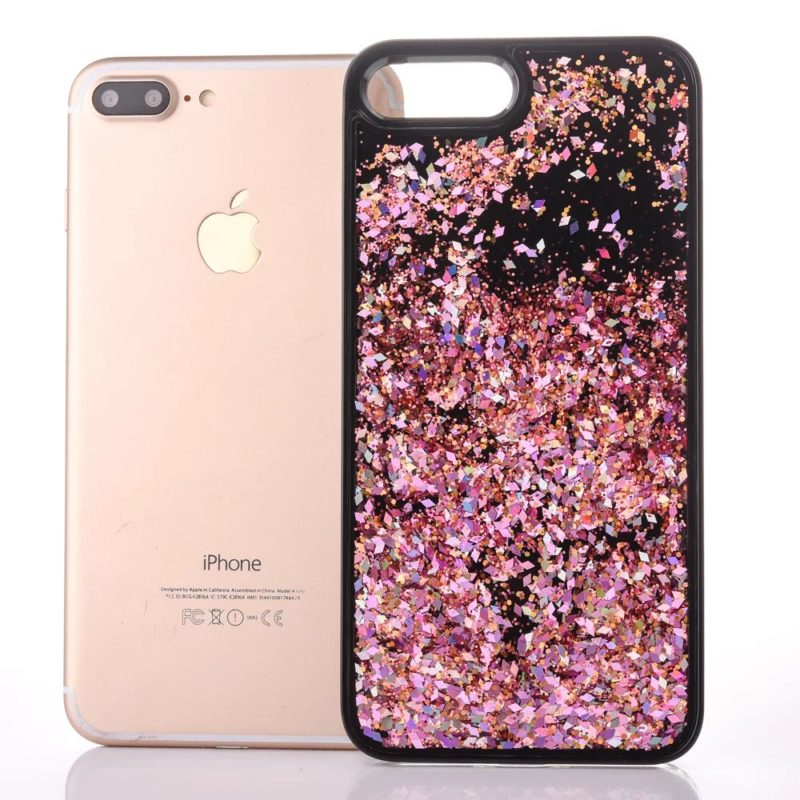 iPhone 7 Floating Glitter Case2 - Falling Glitter - iPhone 6/6+/6S/6S+/7/7+