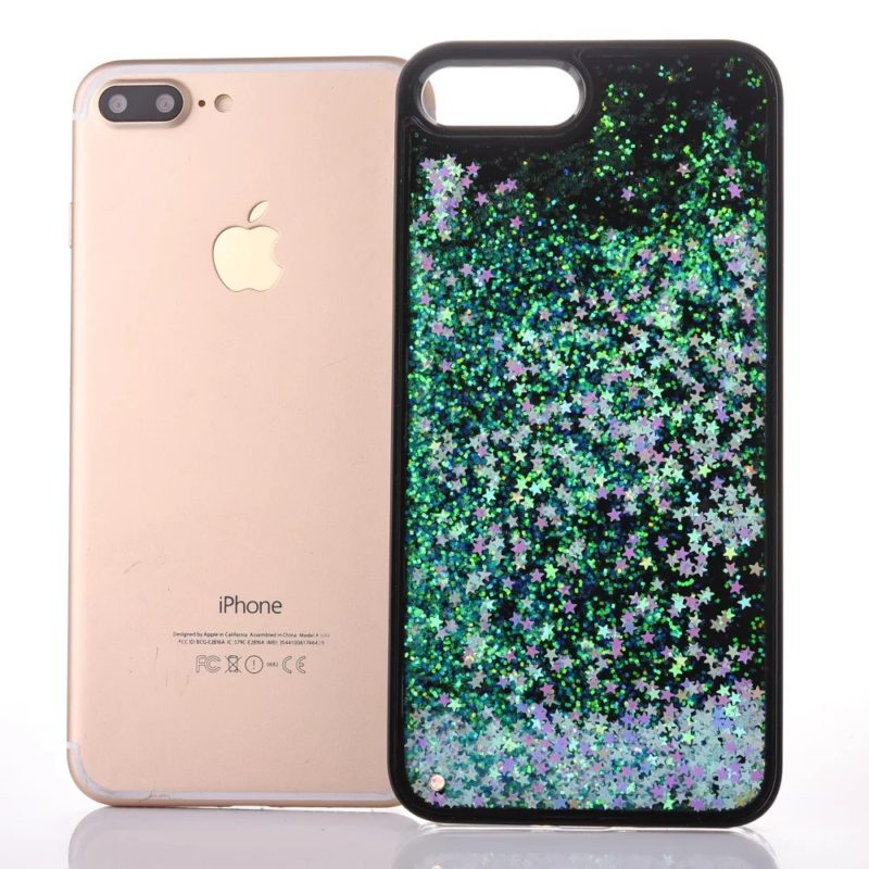 iPhone 7 Floating Glitter Hearts Case1 - Falling Stars - iPhone 6/6+/6S/6S+/7/7+