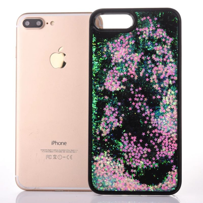 iPhone 7 Floating Glitter Hearts Case2 - Falling Stars - iPhone 6/6+/6S/6S+/7/7+