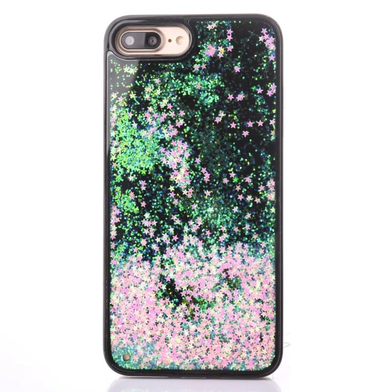 iPhone 7 Floating Glitter Hearts Case3 - Falling Stars - iPhone 6/6+/6S/6S+/7/7+