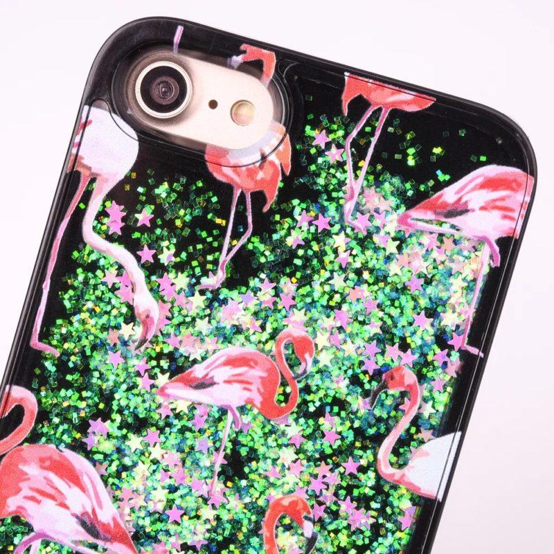 iPhone 7 Pink Flamingo Floating Stars1 - Flamingo Falling Stars - iPhone 6/6+/6S/6S+/7/7+