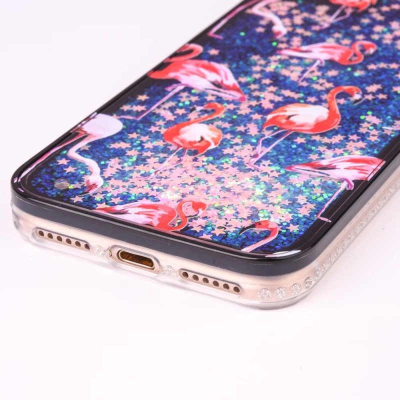 iPhone 7 Pink Flamingo Floating Stars2 - Flamingo Falling Stars - iPhone 6/6+/6S/6S+/7/7+