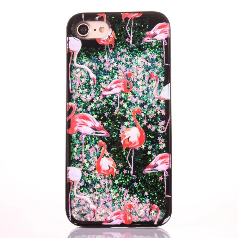 iPhone 7 Pink Flamingo Floating Stars4 - Flamingo Falling Stars - iPhone 6/6+/6S/6S+/7/7+