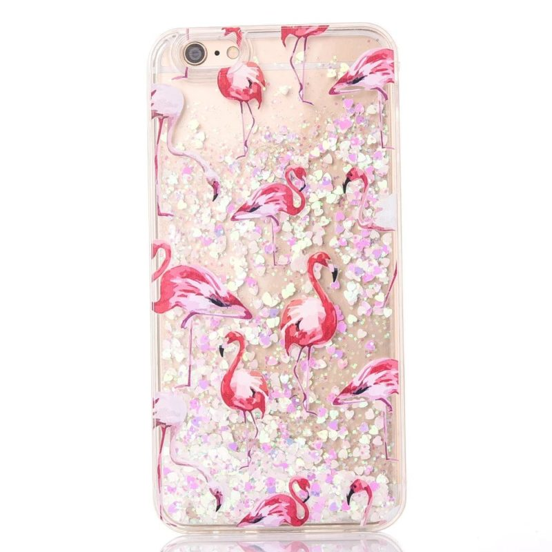 iPhone 7 Pink Flamingo Floating Stars5 - Flamingo Falling Stars - iPhone 6/6+/6S/6S+/7/7+