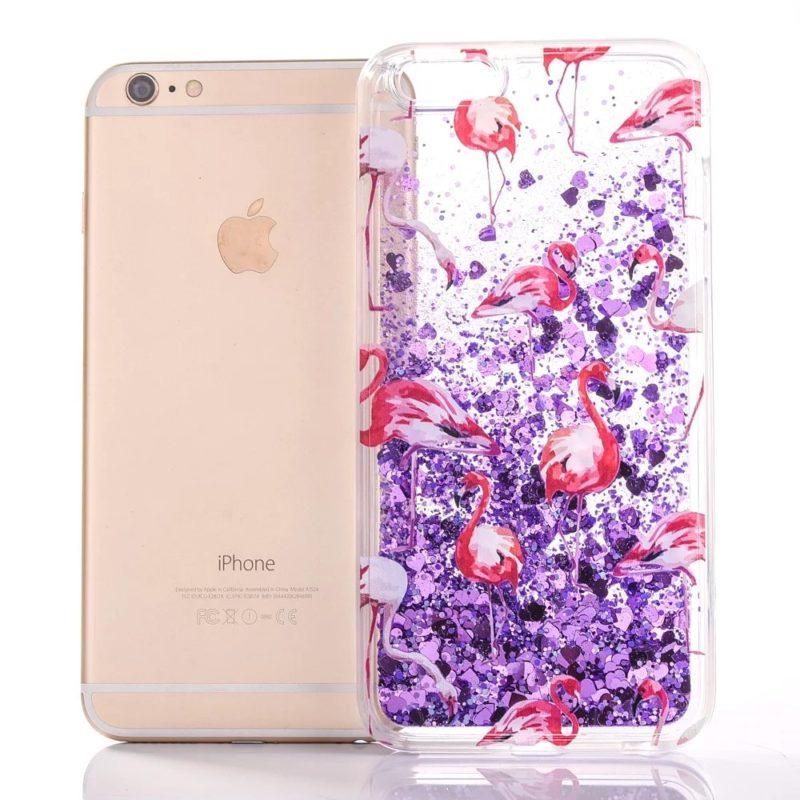 iPhone 7 Pink Flamingo Floating Stars7 - Flamingo Falling Stars - iPhone 6/6+/6S/6S+/7/7+