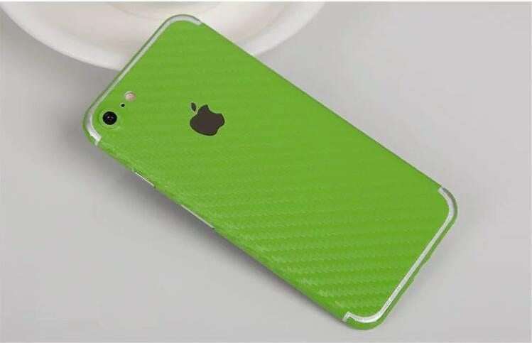 iPhone foil wrap Carbon TPS12 - Foil Wrap Carbon Green - iPhone 6/6+/6S/6S+/7/7+