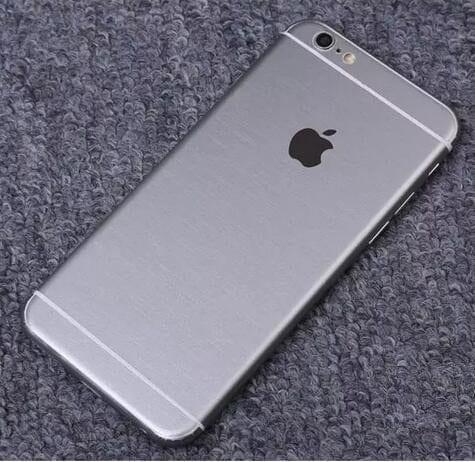 iPhone foil wrap TPS6 - Foil Wrap Brushed Metal - iPhone 6/6+/6S/6S+/7/7+