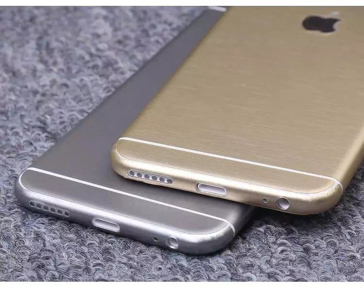 iPhone foil wrap TPS8 - Foil Wrap Brushed Metal - iPhone 6/6+/6S/6S+/7/7+