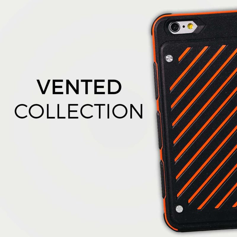 Vented phone cases
